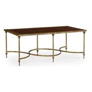 Jonathan Charles Home Rectangular Dark Santos & Brass Coffee Table