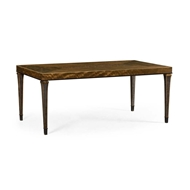"Jonathan Charles Home 84"" Rectangular Caledonian Daniella & Burl Walnut Dining Table 495855"