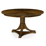 "Jonathan Charles Home 54"" Round Caledonian Daniella & Burl Walnut Dining Table 495857-54D"