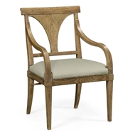 Jonathan Charles Home Cut-Out English Brown Oak Dining Armchair - Mazo 495878-AC-EBO-F001