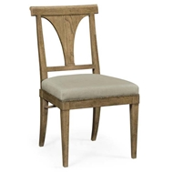 Jonathan Charles Home Cut-Out English Brown Oak Dining Side Chair - Mazo 495878-SC-EBO-F001
