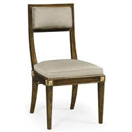 Jonathan Charles Home Open Back Bleached Crotch Walnut Dining Chair - Mazo 495880-WBC-F001