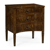 Jonathan Charles Home Inward Bow Front Light Brown Mahogany Bedside Chest 495882-LBM