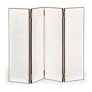 Jonathan Charles Home Crackle Ceramic Lacquered Folding Screen 495886-PCC