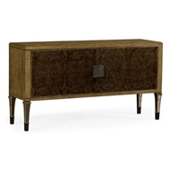Jonathan Charles Home Large Rectangular English Brown Oak & Dark Brown Burl Walnut Buffet 495900-EBO-BBW