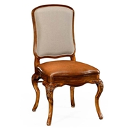 Jonathan Charles Home Walnut side chair 499179-SC-BRW-L011
