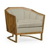 Jonathan Charles Home Walnut Bookmatched Sofa Chair - Mazo 500123