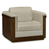 Jonathan Charles Home Antique Mahogany Brown Sofa Chair - Mazo 500124-40L