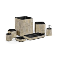 Jonathan Charles Home Black Brushed Eggshell Bathroom - Set of 7 500135-SET