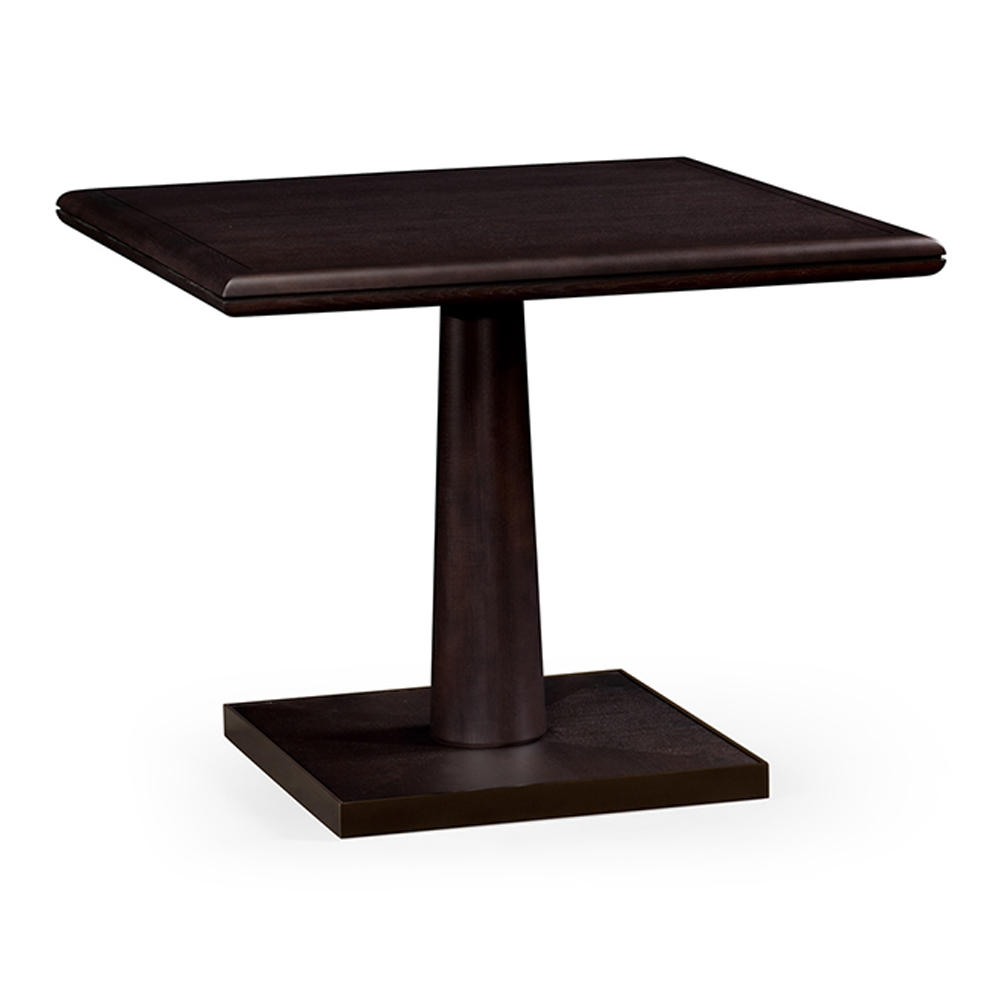 Jonathan Charles Home Square Dark Brown Ash Dining Table