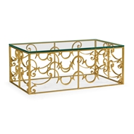 Jonathan Charles Home Rectangular Arabesque Gilded Iron Coffee Table 500148-G