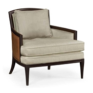 Jonathan Charles Home Rounded Back Dark Brown Ash Occasional Chair - Mazo 500153-ADB-F001