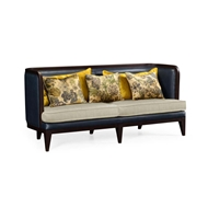Jonathan Charles Home Curved Dark Brown Ash Sofa - Mazo 500155-ADB
