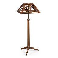 Jonathan Charles Lighting Pyramidal Lattice French Waln 540023-FRW