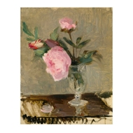 Jonathan Charles Home Peonies Painting with Walnut Frame 540041