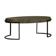 Jonathan Charles Home Chestnut Oval Coffee Table 491140