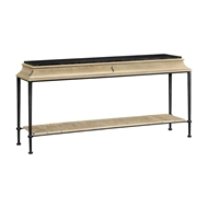 Jonathan Charles Home Rectangular Console Table with Iron Base And Slate Top 491155