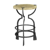 Jonathan Charles Home Round Limed Chestnut & Iron Wine Table 491192