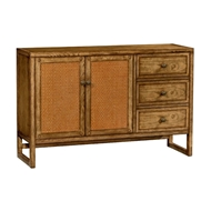 Jonathan Charles Home Light Brown Chestnut Buffet Cabinet 491193