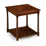 Jonathan Charles Home Oyster Veneer Square Side Table 492104