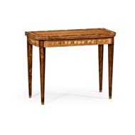 Jonathan Charles Home Painted Card Table (Satinwood) 492146