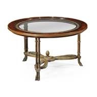 Jonathan Charles Home Napoleon III Coffee Table Brass Base 492649