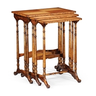 Jonathan Charles Home Satinwood Nest of Three Tables 492710