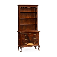 Jonathan Charles Home Tall Mahogany Bookcase on Chest 492818