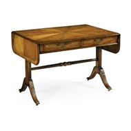 Jonathan Charles Home Regency Satinwood Folding Library Table