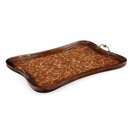 Jonathan Charles Home Rectangular Seaweed Marquetry Tray 493007