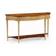Jonathan Charles Home Gilded Console with Shelf (Large) 493187