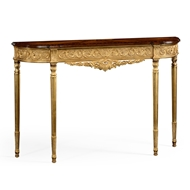 Jonathan Charles Home Louis Iv Style Narrow Gilded Console 493239