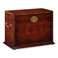 Jonathan Charles Home Tall Square Crotch Mahogany Jewellery Box 493281