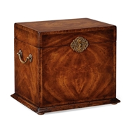 Jonathan Charles Home Tall Square Crotch Walnut Jewellery Box 493282