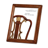 "Jonathan Charles Home 8""X10"" Concave Moulding Walnut Picture Frame"