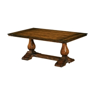 Jonathan Charles Home Figured Walnut Refectory Style Coffee Table 493376