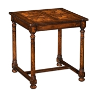 Jonathan Charles Home Walnut Square Oyster Parquet Side Table 493411