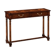 Jonathan Charles Home Walnut Oyster Parquet Console 493412
