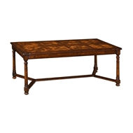 Jonathan Charles Home Walnut Rectangular Parquet Oyster Coffee Table 493413