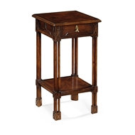 Jonathan Charles Home Dark Crotch Walnut Square Lamp Table 493492