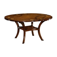 Jonathan Charles Home Figured Walnut Square to Circle Dining Table 493591-42D