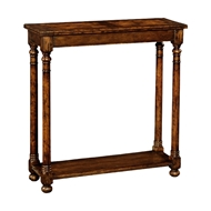 Jonathan Charles Home Small Walnut Oyster Parquet Console 493723
