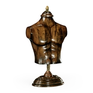 Jonathan Charles Home Large Male Wooden Mannequin & Torso on Stand 493856-LRG