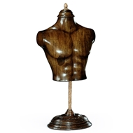 Jonathan Charles Home Small Male Wooden Mannequin & Torso on Stand 493856-SML