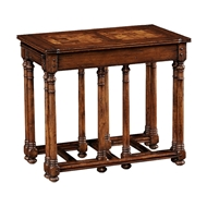 Jonathan Charles Home Walnut Oyster Parquet Nest of Tables 493897