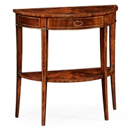Jonathan Charles Home Boxwood Stringing Demilune Console 494002
