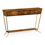 Jonathan Charles Home Argentinian Walnut Veneered Tapering Console 494414