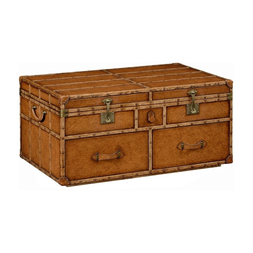 Jonathan Charles Home Travel Trunk Style Coffee Games Table 494473