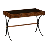 Jonathan Charles Home Hammered Iron Writing Table 494510