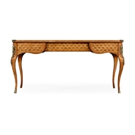 Jonathan Charles Home Satinwood And Marquetry Bureau Plat